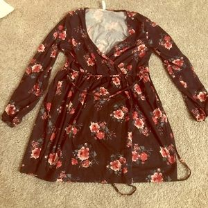 Rose wrap dress. Super comfy and flattering!